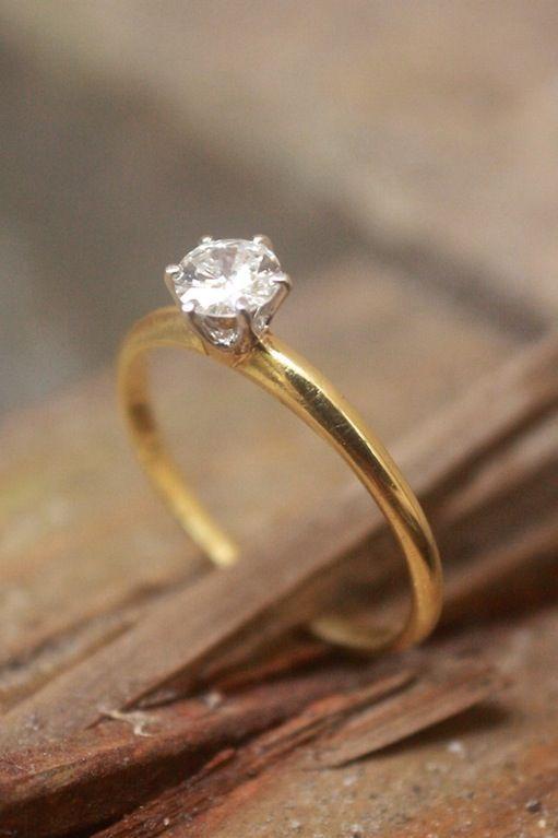Tiffany & Co. Diamantring, ca 0,30 ct, sent 1900-tal