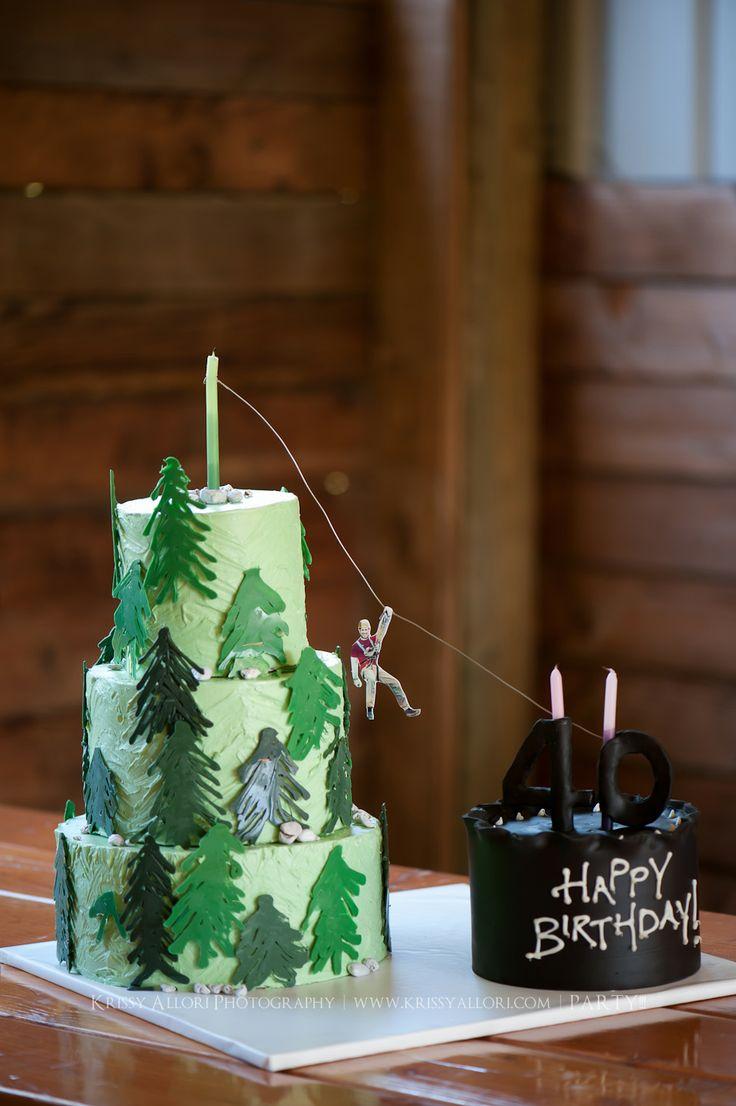 Ziplining scrapbook ideas - Awesome Zipline Cake