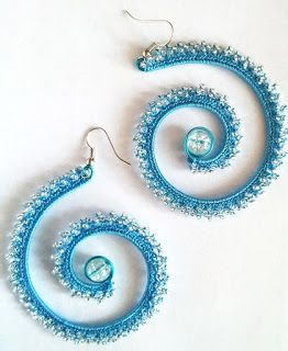 Tina's handicraft : how to make crocheted earrings