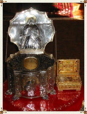 The Relics of St. Panteleimon and the Skull of Elder Joseph the Hesychast