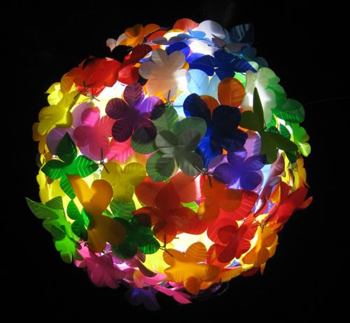 Heath Nash flowerball from plastics1 From packaging to art in plastics packagings lights  with Plastic PET Light Lamp Bottle