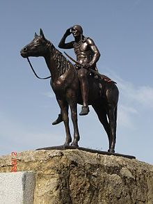 The Scout is a famous statue in Kansas City, Missouri. It is more than 10 feet tall, and depicts a Sioux Indian on a horseback pointing North returning from a hunting trip. The Scout was conceived in 1915 by Cyrus E. Dallin (1861-1944) for the Panama Pacific Exposition in San Francisco, where it won a gold medal.