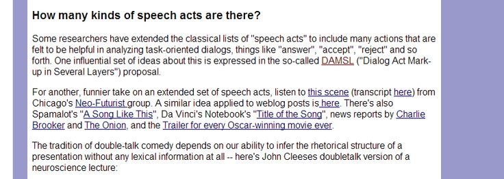 How many kinds of speech acts are there?