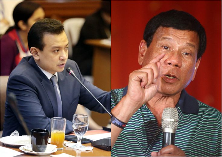Leading presidential candidate Rodrigo Duterte is considering filing charges against Sen. Antonio Trillanes IV for his claims that the tough-talking Davao City mayor did not declare  P211 million in his statement of assets, liabilities and net worth (SALN).
