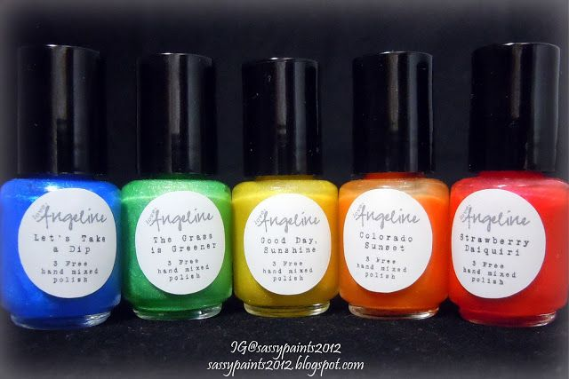 Sassy Paints: Summer Rainbows Collection Review