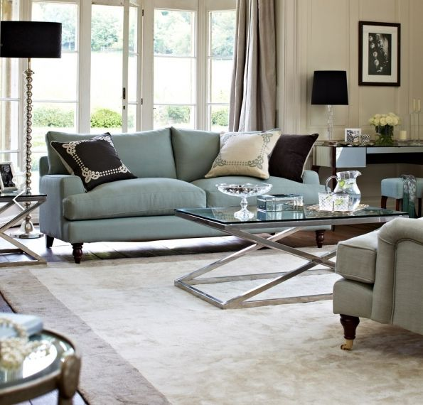 24 best designers their sofas images on pinterest - Grey and duck egg blue living room ideas ...