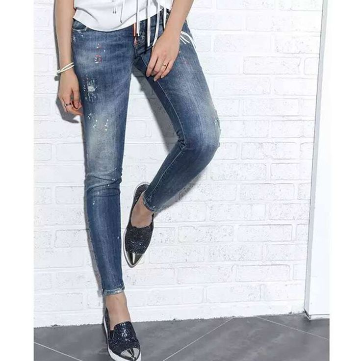 Find More Jeans Information about 2016 New Arrival European Hot Women Sexy Skinny Jeans Ripped Designed Jeans White Spot Female Fashion Jeans SKU3167,High Quality jeans for women with hips,China jeans trade Suppliers, Cheap jean jacket jeans from HongKong Goods LTD-Smarter Shopping Better living ! on Aliexpress.com