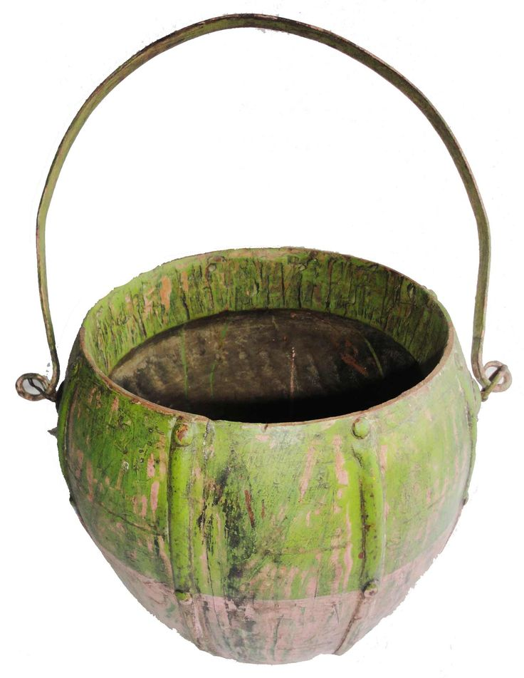 B0013 These Wooden Pots Were Used In Tribal Areas For