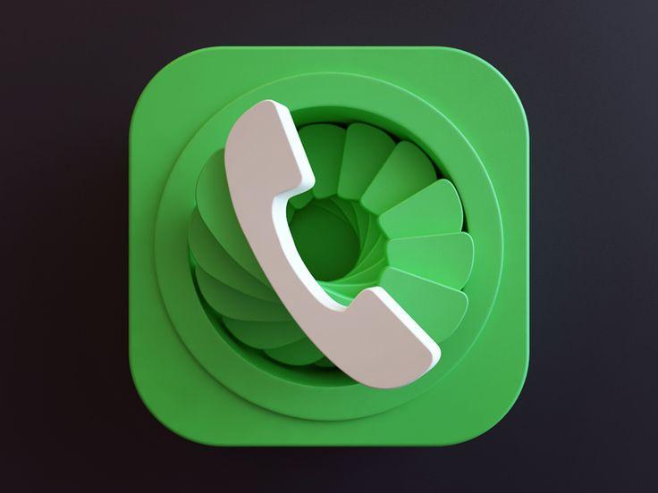 Dialer icon app icon design icon design app icon