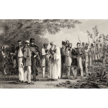 Capture Of The King Of Delhi By Captain Hodson Bahadur Shah Zafar 1775 To 1862 The Last Mughal King From The History Of The Indian Mutiny Published 1858 Canvas Art - Ken Welsh Design Pics (36 x 22)