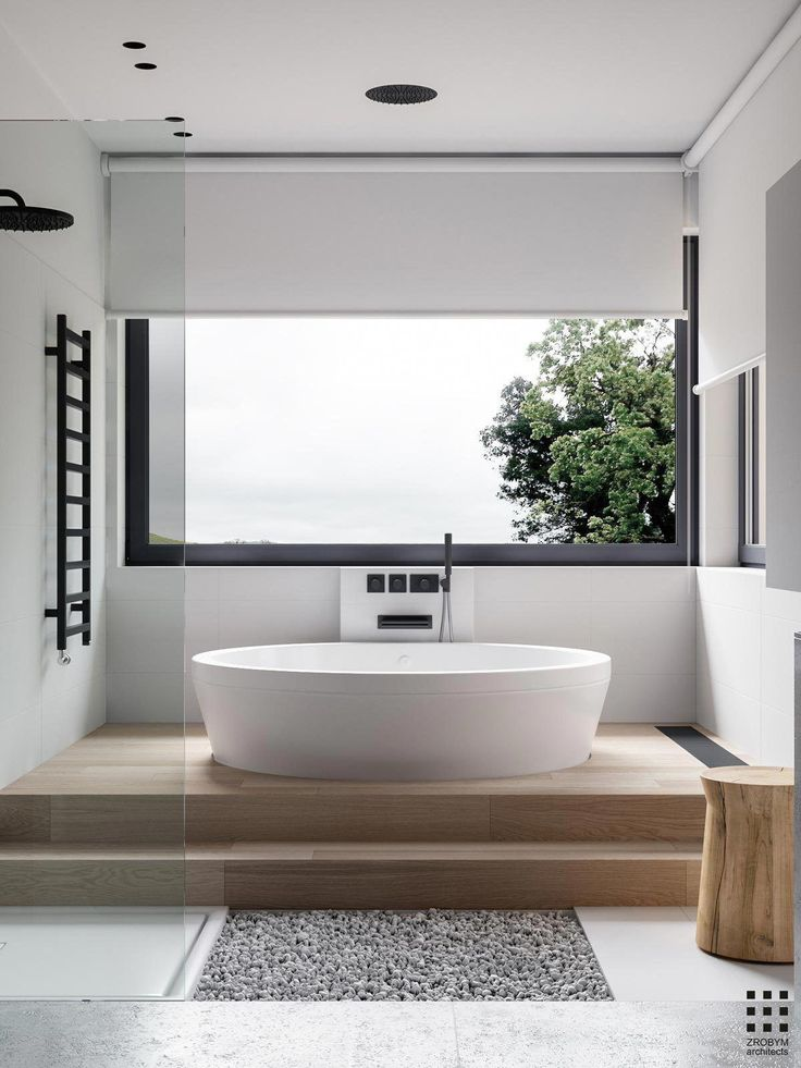 Great bath with view #moderndesignbathrooms