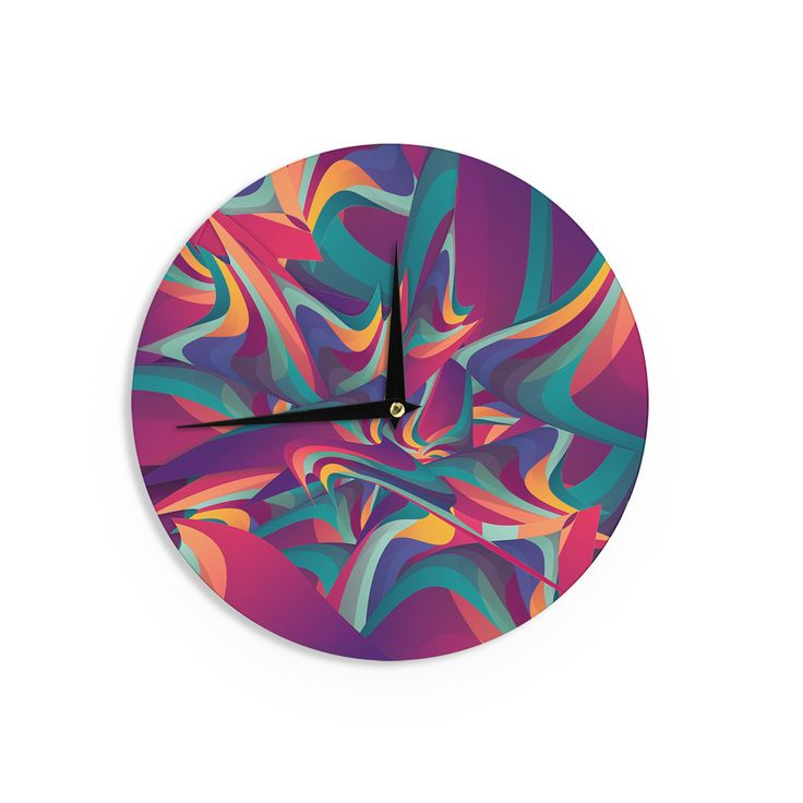 "Danny Ivan ""Wrong Past"" Teal Purple Wall Clock"
