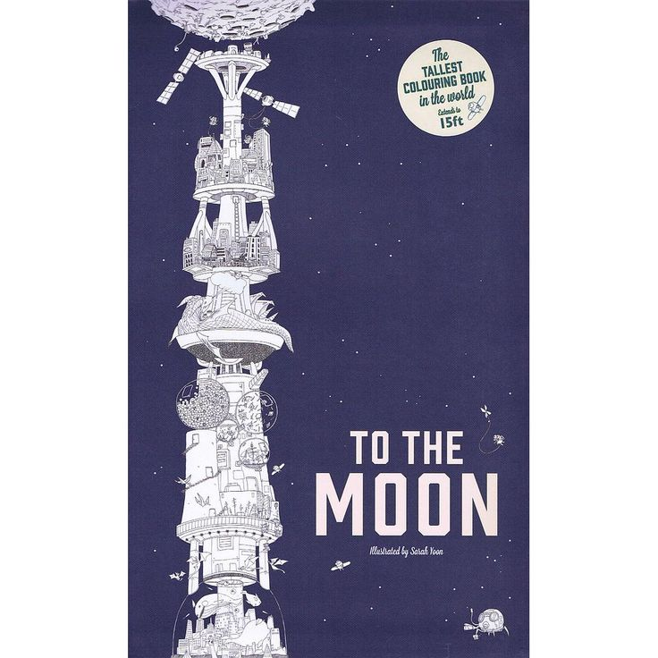 To the Moon - The Tallest Colouring Book in the World bog fra Viking og Creas