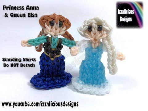 Rainbow Loom Queen Elsa Charm/Princess Action Figure - 2D Standing Doll - YouTube