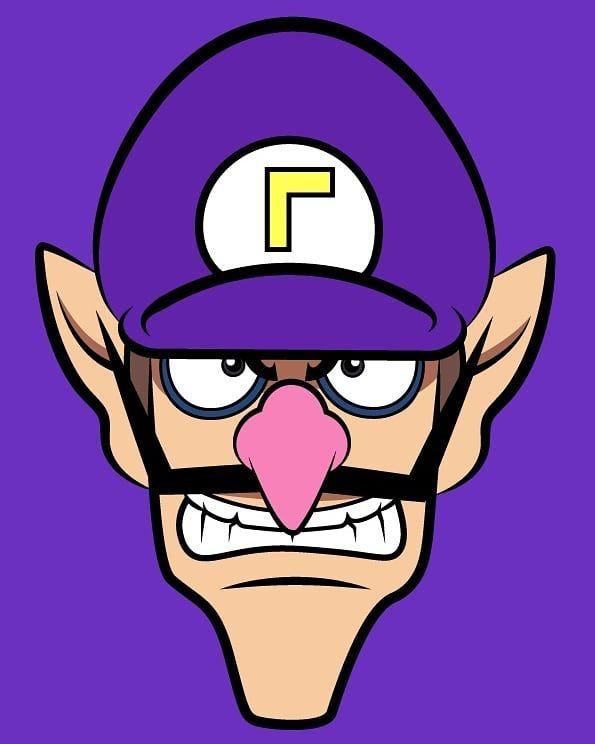 Waluigi Vector Wario Waluigi Mario Mariobros Nintendoswitch Nintendo Old Games Retro Luigi Vector Vectorart N Mario Art Mario And Luigi Mario Bros