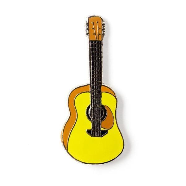 Yellow Guitar Musical Instrument Lapel Badge Hat Enamel Pin Enamelpinz Guitar 3d Printed Metal Semi Acoustic Guitar