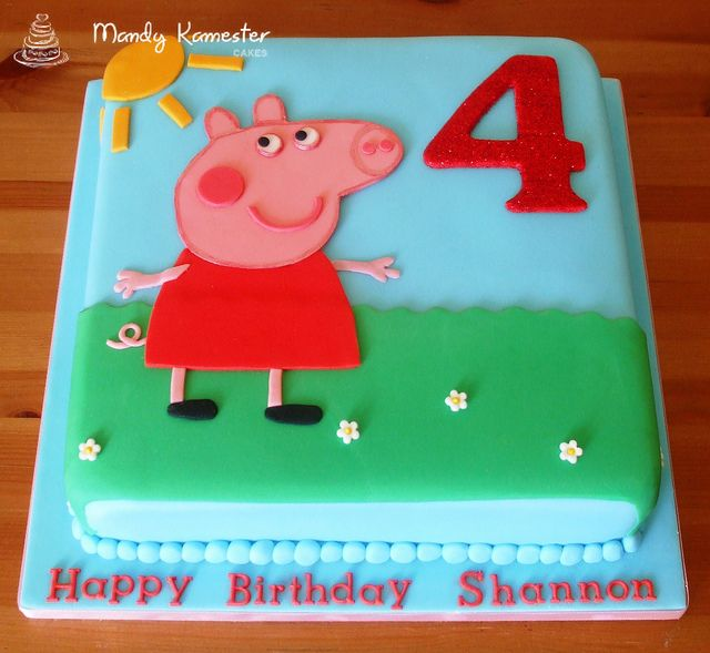 Peppa Pig cake by Mandy Kamester Cakes, via Flickr