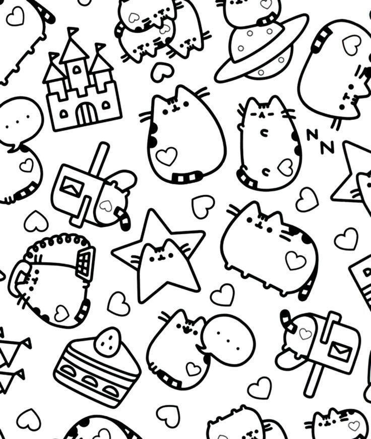 23 Mejores Im 225 Genes De Pusheen En Libros Para Colorear P 225 Ginas Para Colorear Y Pusheen Coloring Pages Cat Coloring Page Cute Coloring Pages