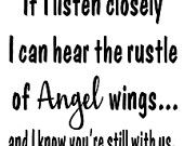 Items similar to Rustle of Angel wings - Quote - Vinyl Wall Decal on Etsy