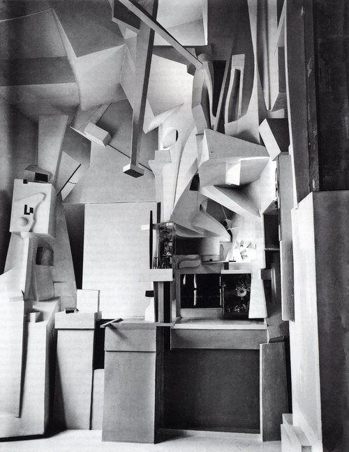 Kurt Schwitters   Merzbau   1923... Ever evolving anti-art home piece wonds would never do justice in describing. Hsu i misd you