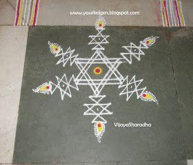 அழியாத கோலம்/ ముగ్గులు / रंगोली : STAR KOLAM