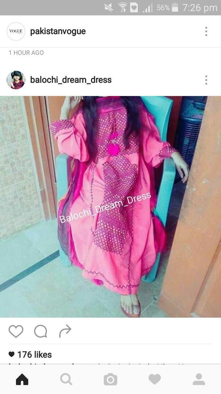 Purple balochi dress