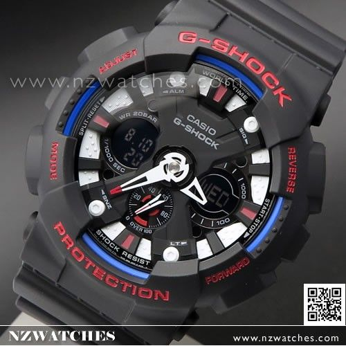 Casio G-Shock Tricolor Analog Digital Limited Sport Watch GA-120TR-1A, GA120TR