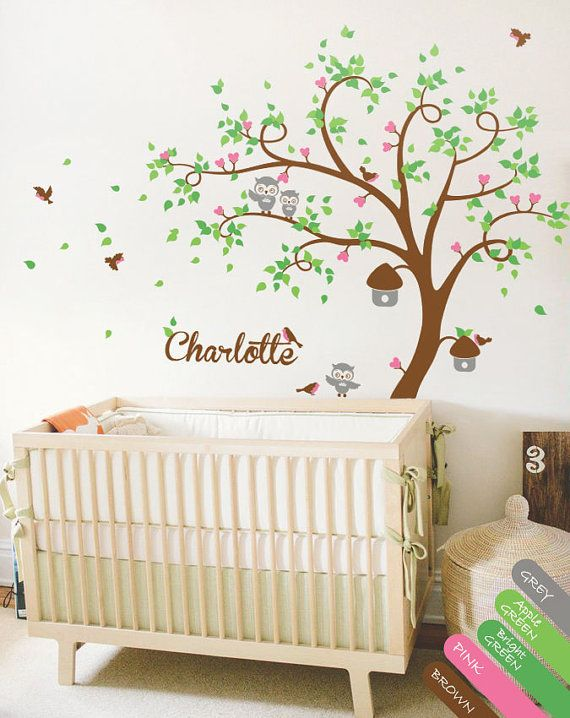 Tree wall decal with personalized name Huge Wall by StudioQuee