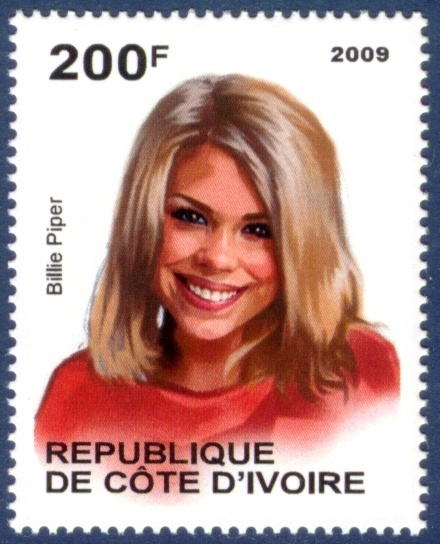 2009 - Ivory Coast postage - Famous People series ...