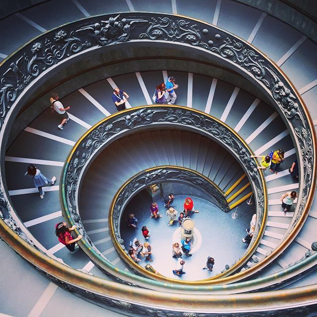 Vatican Museums. Thank god we had our tickets booked well in advance as their was at least one kilometer length of queue for tickets!   #vatican #vaticano #europe #travel