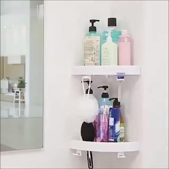 Corner Storage Holder Shelves In 2020 Corner Storage Bathroom Storage Diy Home Decor Bedroom
