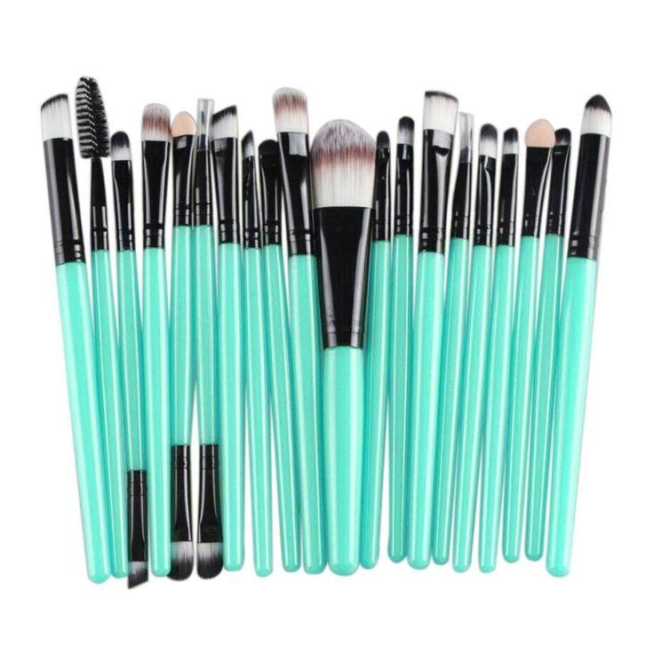 Fortan 20 pcs Makeup Brush Set tools Make-up Toiletry Kit Wool Make Up Brush Set Black: Amazon.co.uk: Beauty