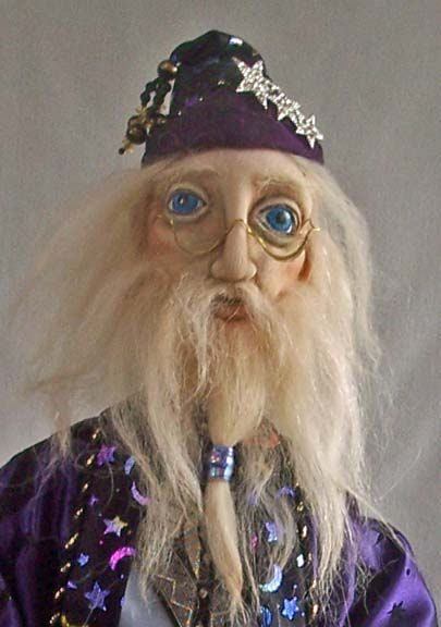 2011 Male Cloth doll challenge   Advanced  Ignotus Peverell   as a   Middle Aged Wizard  Doll by Stephanie Novatski