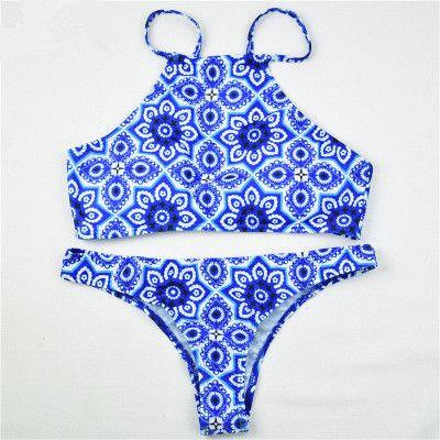 Floral Swimsuit Swimwear Bikini Set