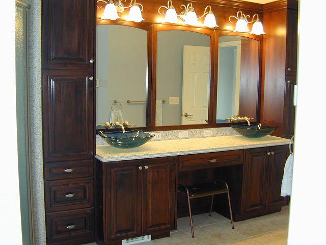 Pics Of Sleek looking modern bathroom vanity in polytec RAVINE Sepia Oak http