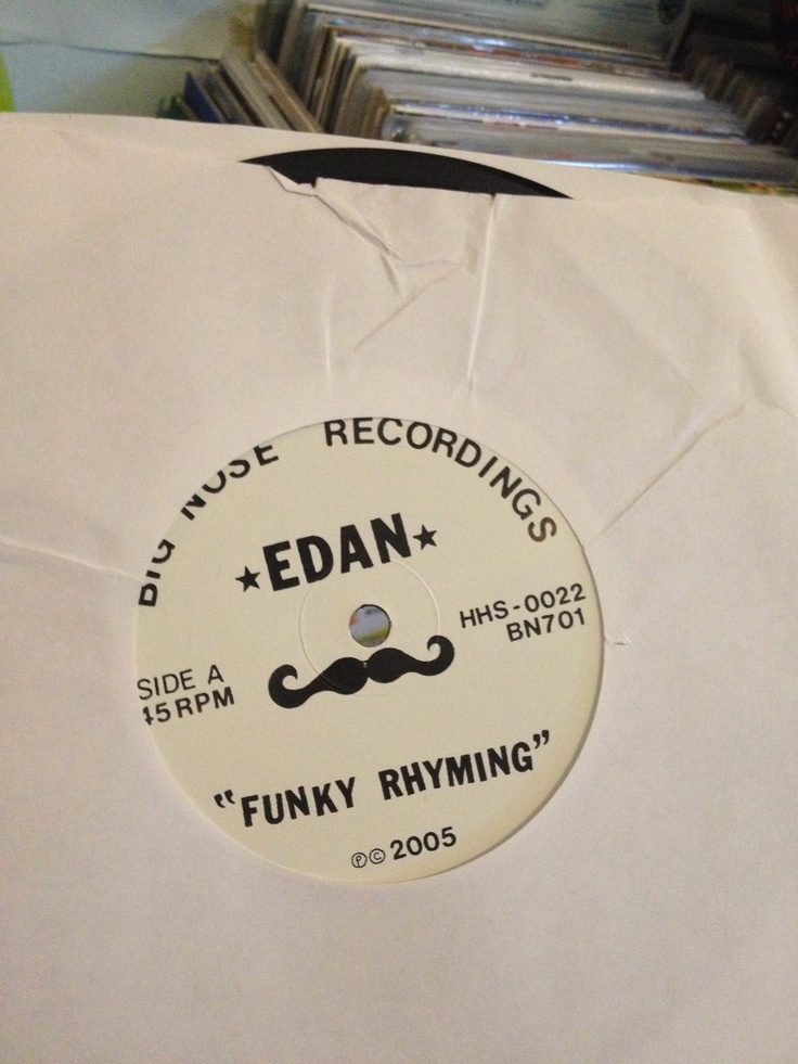 Edan - Funky Rhymin' on 'Big Nose Recordings'.