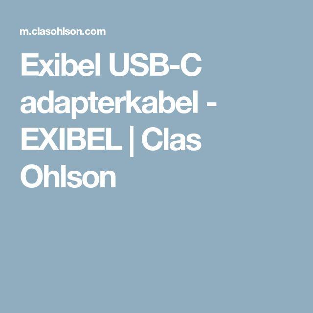 Exibel USB-C adapterkabel - EXIBEL | Clas Ohlson