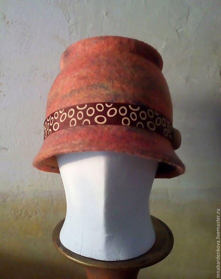 """Купить Шляпка """"Воспитание о прошлом"""" - валяная шапка, шляпа с полями, Мокрое валяние, Валяние"""