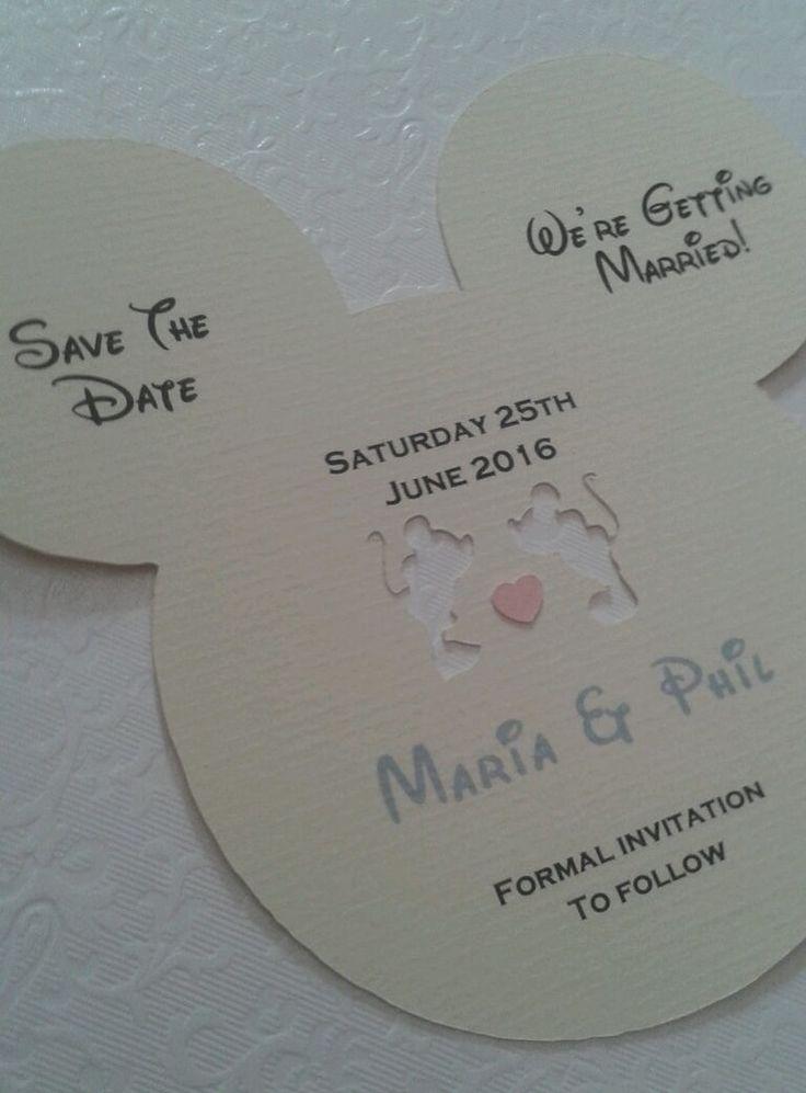 Disney inspired save the date card invitations x 30                                                                                                                                                                                 More