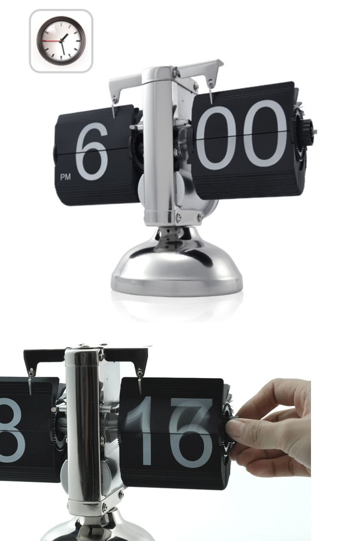 #Reloj Flip Metálico, super original!! - Coolest #FlipClock you'll ever see!  #Regalos #Frikis #Geek #Gifts