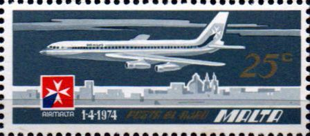 Malta 1974 Air Malta SG 521 Fine Mint SG 521 Scott C7 Condition Fine MNH Only one post charge applied on multipule purchases Details N B With over