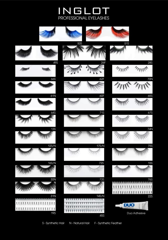 Extreme, bold or simple eyelashes...the choice is yours!