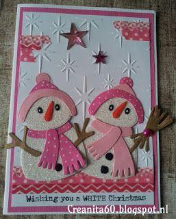 CreAnita: roze / witte kerst