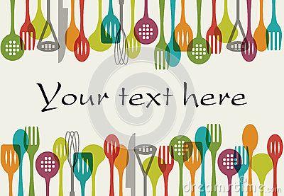 Vector illustration of Background - Kitchen utensils set