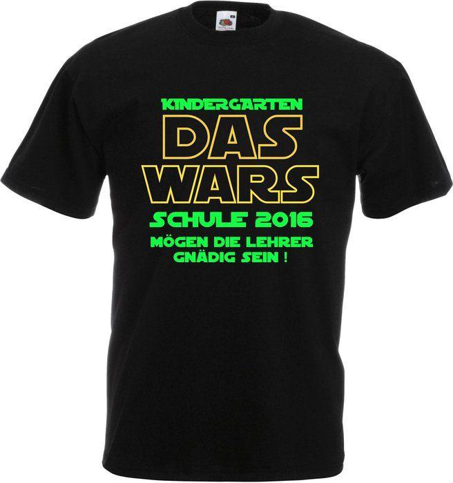 Einschulung Shirt für Jungen und Mädchen Kindergarten Das Wars... NEON (116)