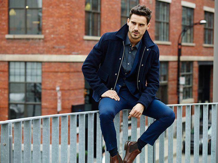 #navy#jacket#stylish#casual#elegance#look