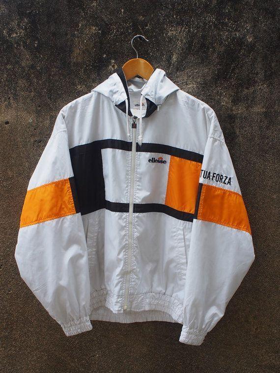 ELLESSE Damen Jacke Large Vintage 90er Ellesse Italia