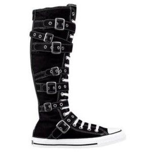 Chuck Taylor Knee High Converse | CONVERSE KNEE HIGH CHUCK TAYLOR-BLACK /BUCKLES~