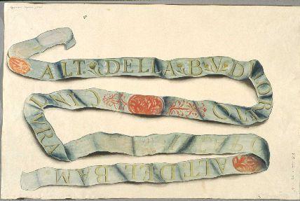lettered banner ribbon illustration