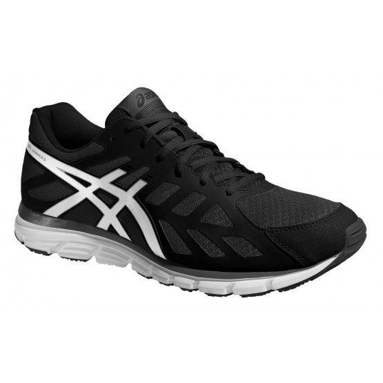 Asics futócipő Gel-Zaraca 3 férfi fekete,fehér futócipő. Méret: 40.  Innovatív cipő , mely flexibilis középtalppal gyors mozdulatokat támogatja  futás közben.